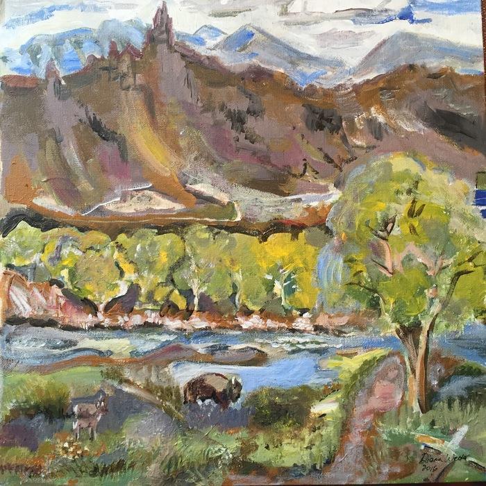 Diana Walter - Springtime in Wapiti, Wyoming