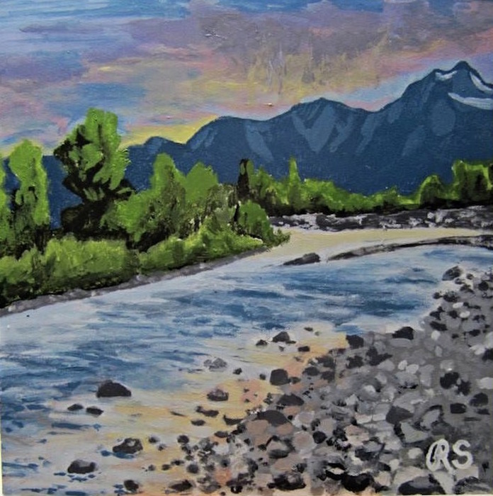Rachel Smith - On the Gros Ventre at Dusk