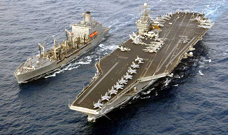 Sequester cuts may delay the deployment of the USS Harry S Truman above