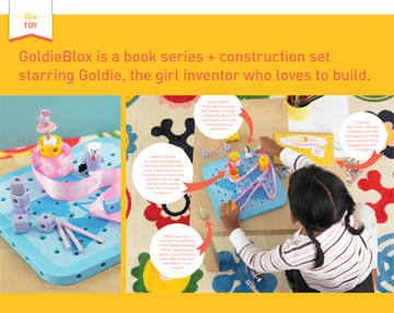 A press release from GoldieBlox (http://www.goldieblox.com/)