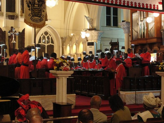 The choir of Christchurch Cathedral, Lagos.
