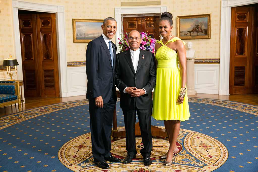Tunisian President Mohamed Moncef Marzouki with the President and First Lady