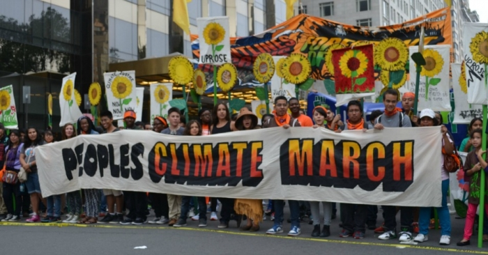 People's Climate March in New York, by South Bend Voice via Wikimedia Commons