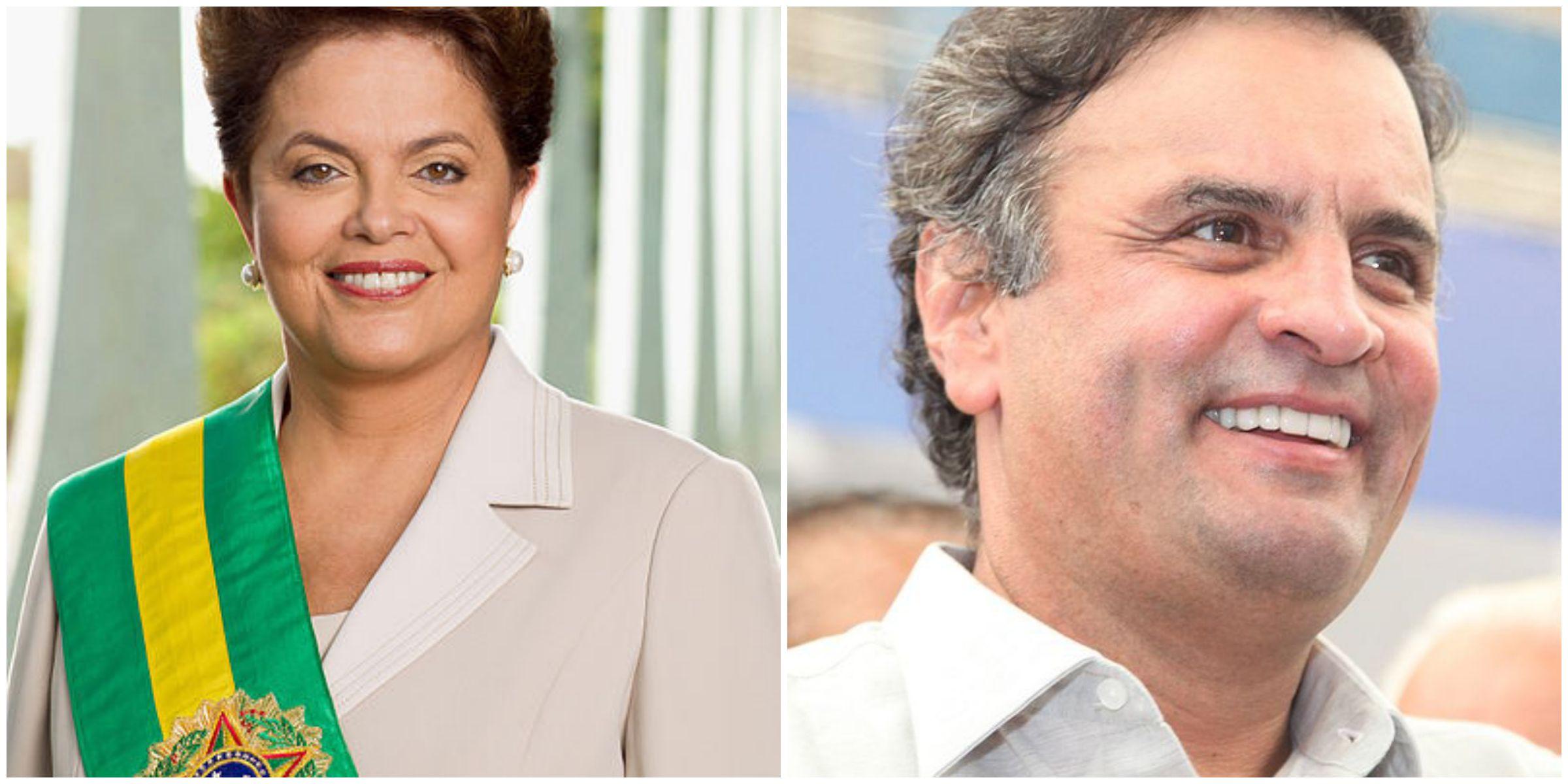 Dilma Rousseff by Roberto Stuckert Filho/Presidência da República (Agência Brasil) [CC-BY-3.0-br] Aecio Neves, by PSDB MG [CC-BY-2.0]
