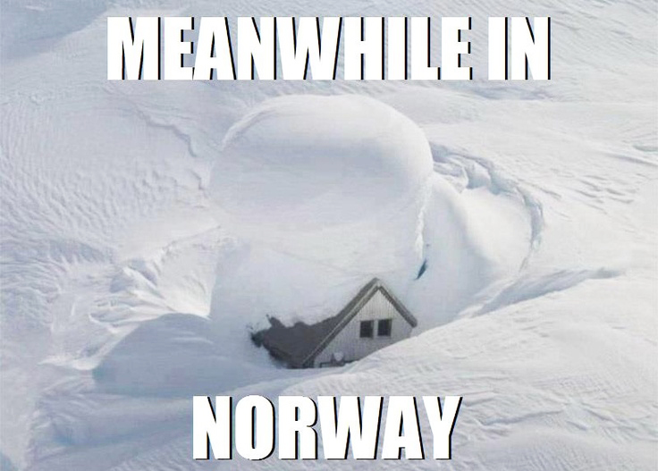 meanwhile in norway meme norskarv snowdrive alt for norge norwegian