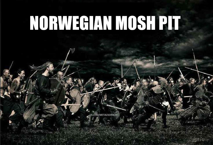 norwegian mosh pit meme vikings norway norwegian norskarv alt for norge