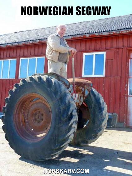 norwegian segway meme tractor norway norskarv alt for norge