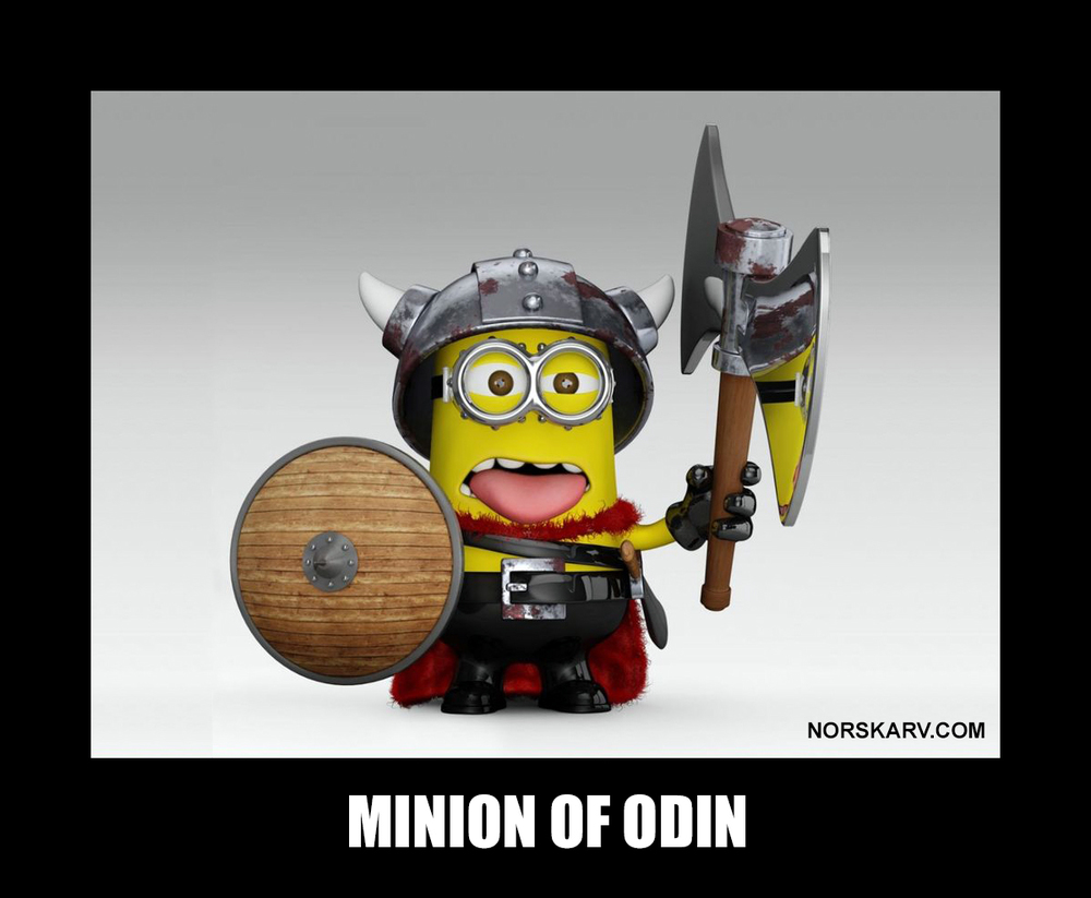 minion meme of odin dispicable me norskarv norway norwegian alt for norge