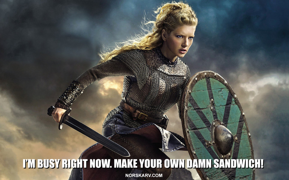 lagertha shieldmaiden meme damn sandwich vikings Katheryn Winnick alt for norge