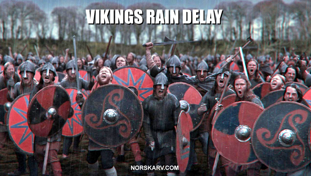 vikings rain delay meme norway norwegian alt for norge norskarv