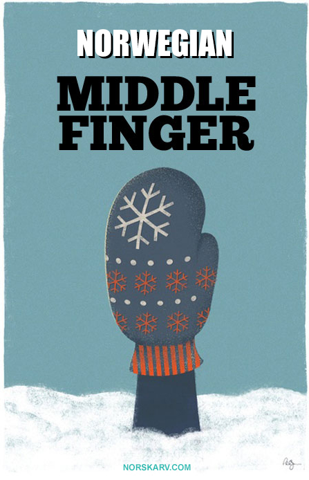 norwegian middle finger meme norway norskarv alt for norge mitten