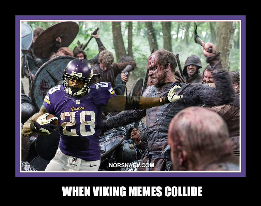 when viking memes collide floki history channel norway norwegian norskarv alt for norge adrian peterson minnesota