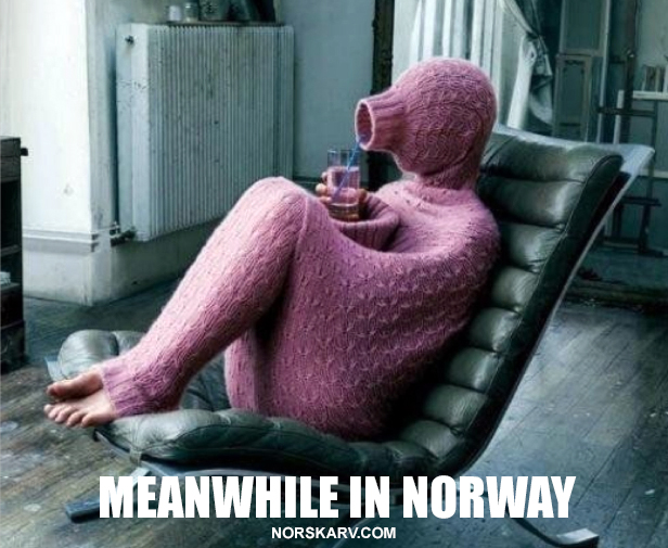 meanwhile in norway meme norskarv norwegian alt for norge full body ugly sweater