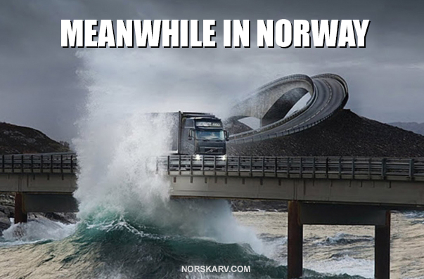 meanwhile i norway meme wave norwegian norskarv alt for norge