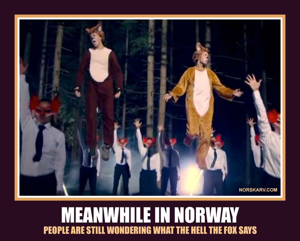 what does the fox say meme meanwhile in norway people are still wondering what the hell the fox says norwegian norskarv alt for norge