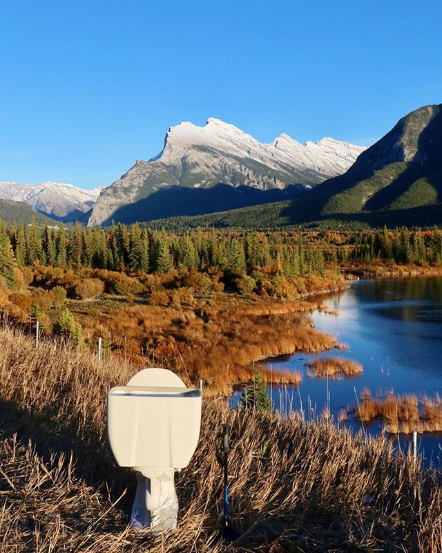 #poopwithaview is back! Hitting Vermillion Lakes in Banff. Who would poop here?  #beautiful #fall #toilet #banffnationalpark #banff #entrepreneur #beautifulplace #travel #traveltheworld #poop #marketing #shithappens #forshitsandgiggles #bigdumps #canada #canadianrockies #earthpix #alberta