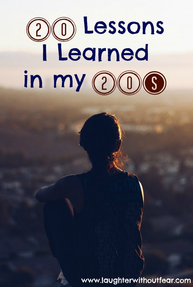 20 lessons learned in my twenties