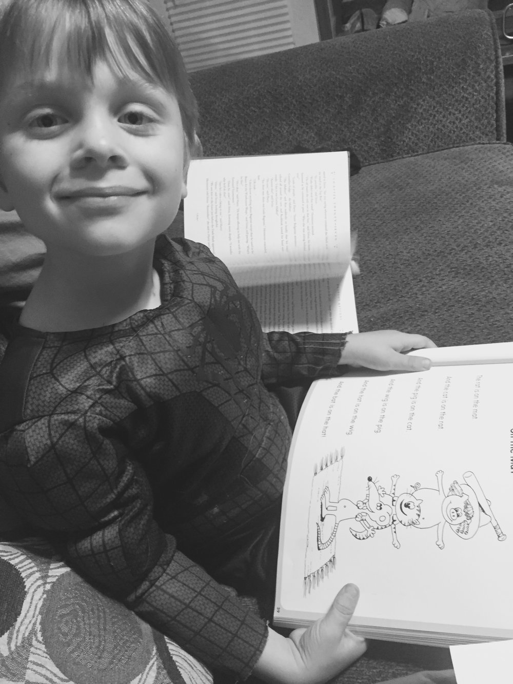 My proud reader. My heart could burst.