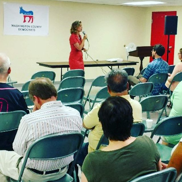 Thank you to the Washington County Democrats for inviting Erin to speak with them!