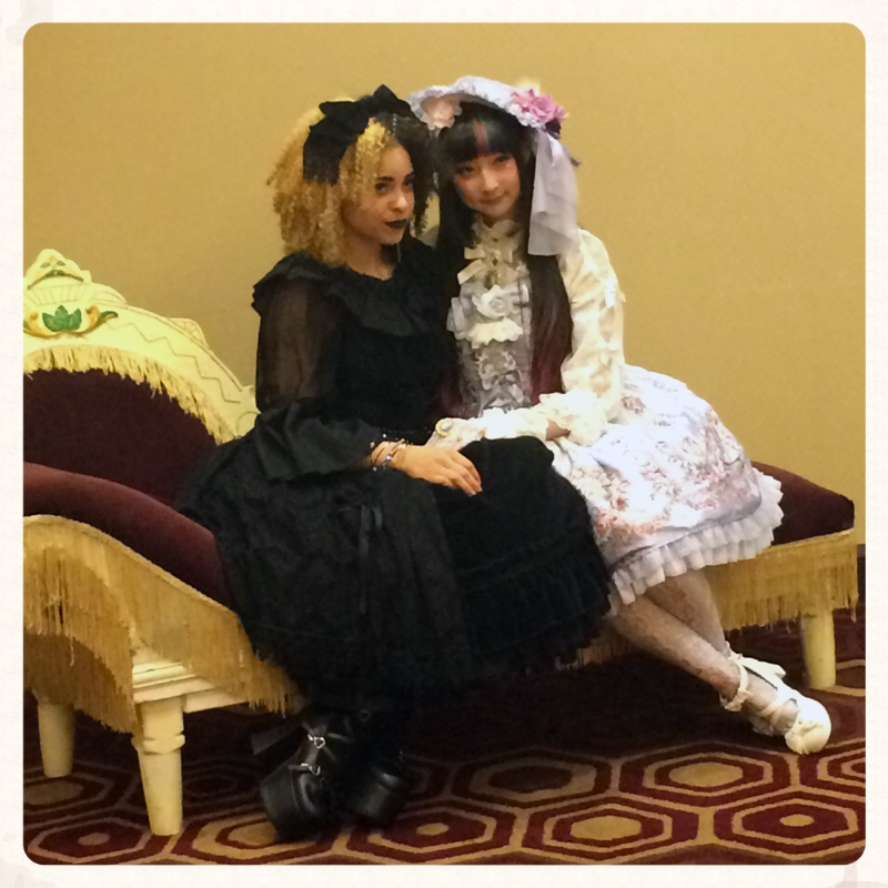 Miss Chubi & Rin Rin Doll at the Lolita Tea Party at Tekko 2015.