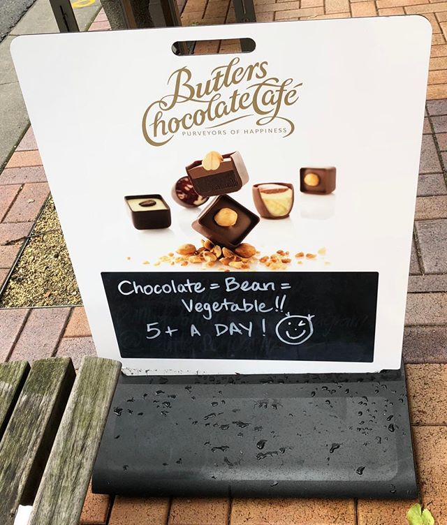 TFW the chocolate shop uses your suggestion for their street signboard.