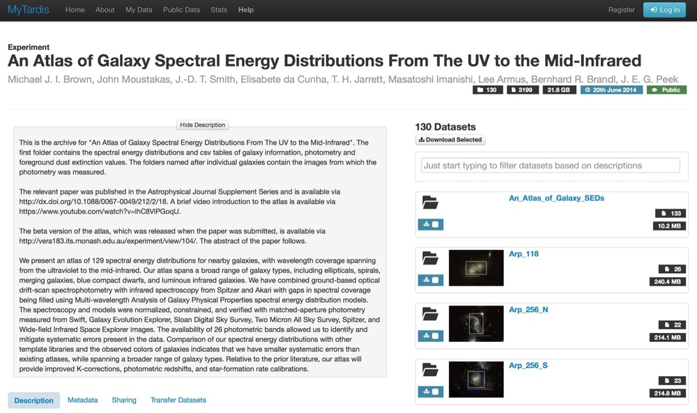 Atlas of Galaxy Spectral Energy Distributions From The UV to the Mid-Infrared  (Principal Investigator: A/Prof. Michael Brown, Monash University)