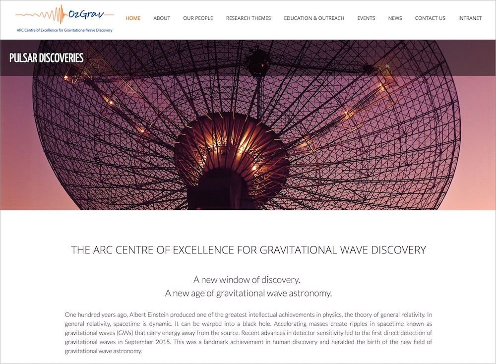$31.5M ARC Centre of Excellence for Gravitational Wave Discovery (OzGRAV)