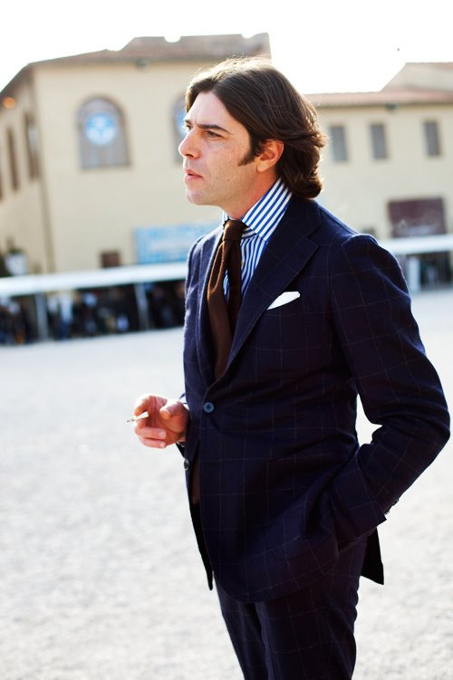 Valentino Ricci looking effortlessly dapper in Sciamat.