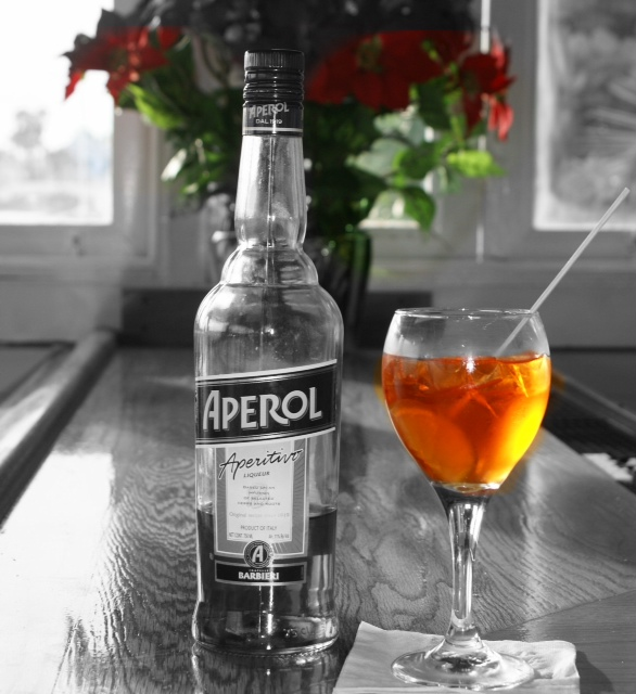 A refreshing spritz at the restaurant bar.