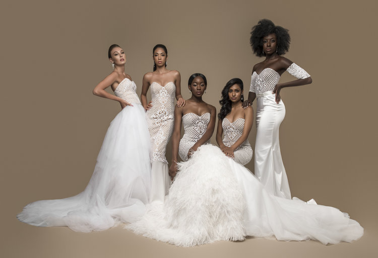 Get inside the mind of a bridal gown designer and explore the HUExJRT lace collection