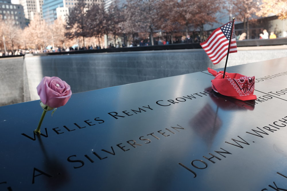 The 9/11 Memorial was a deeply moving tribute. The groundskeepers place a flower in the victims' names on their birthdays.