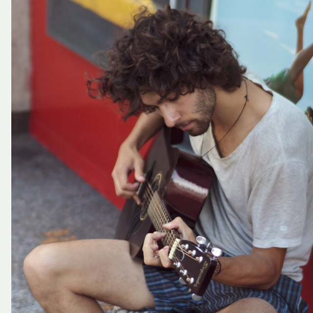 Busking while I was travelling through Australia and New Zealand