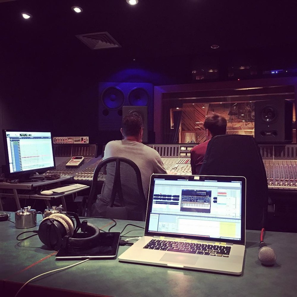 Studio session, arranging with the artist.