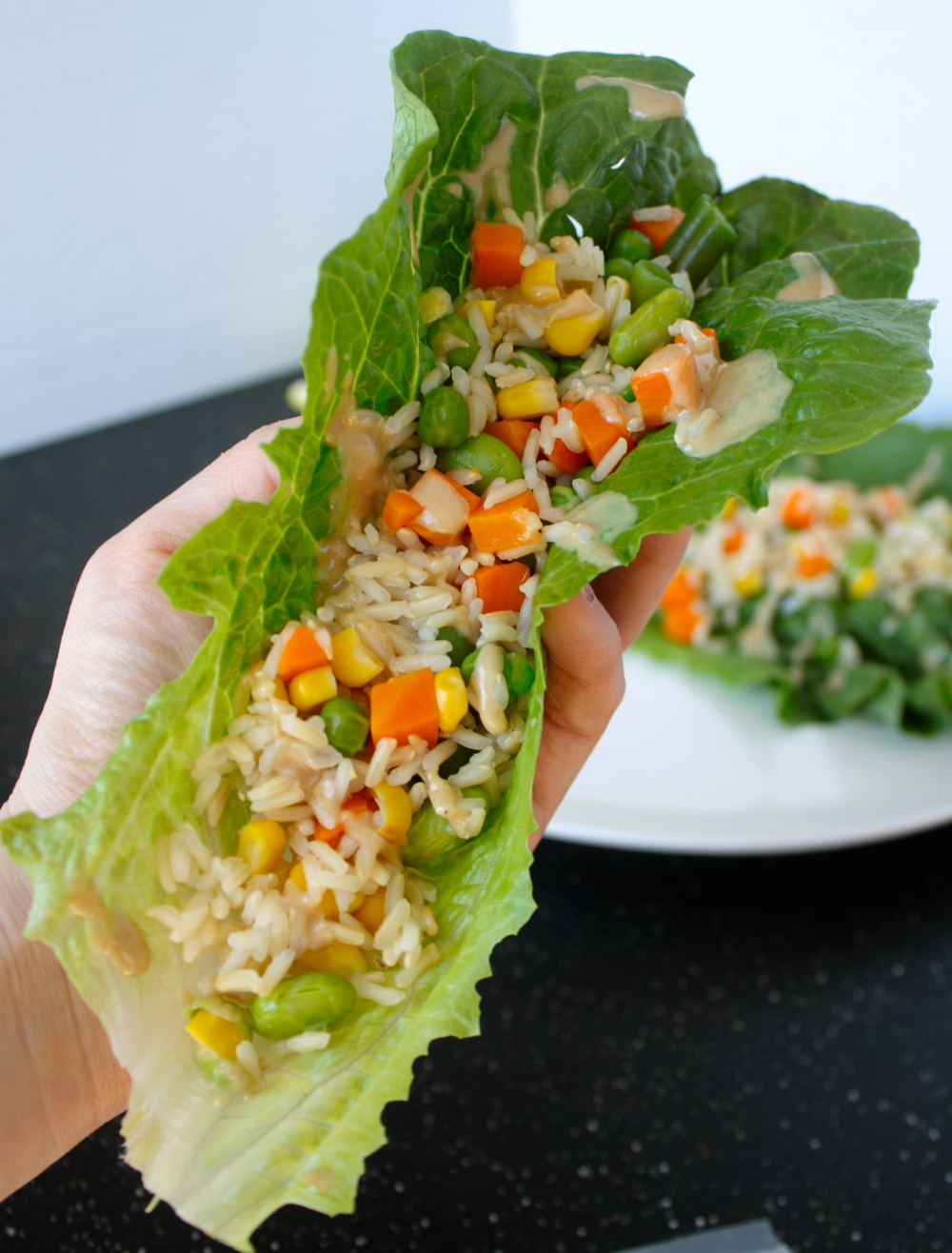 Tahini Romaine Wraps
