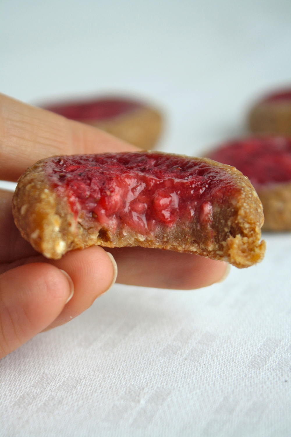 Raw Vegan Thumbprint Cookies