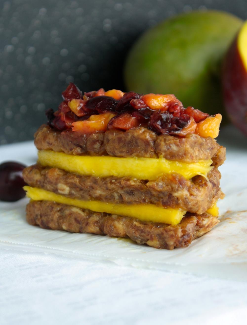 Gluten Free Cherry Mango Bars