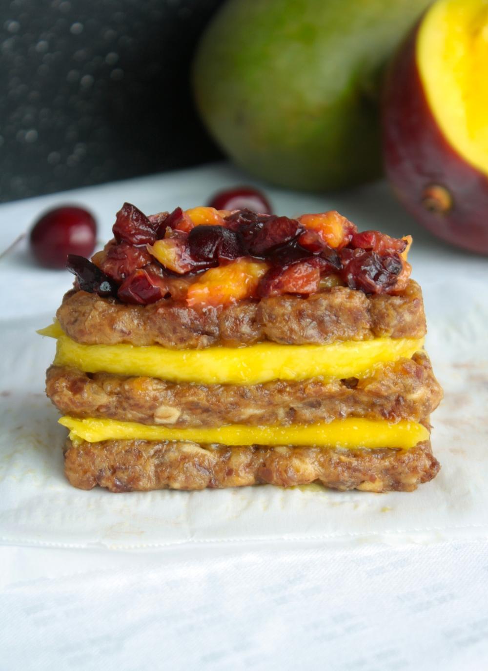 Vegan Cherry Mango Bars