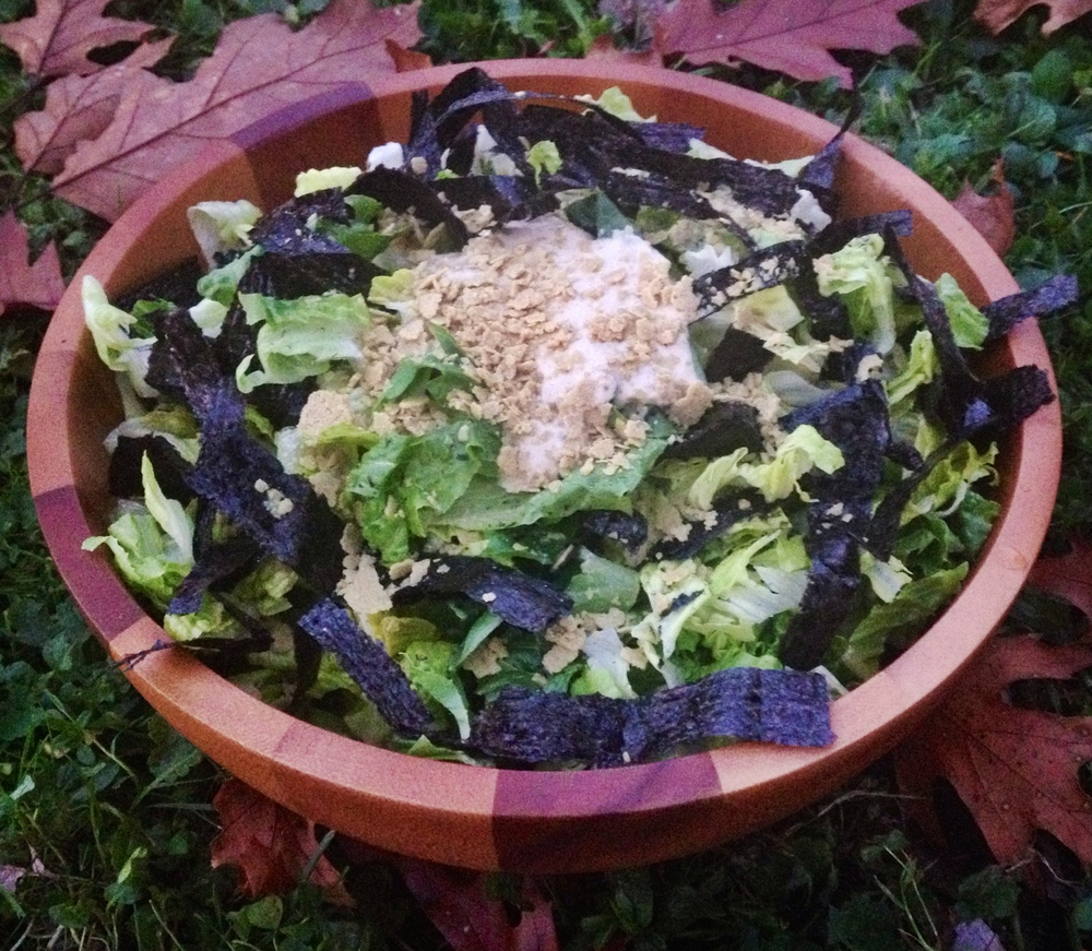 Raw Vegan Caesar Salad
