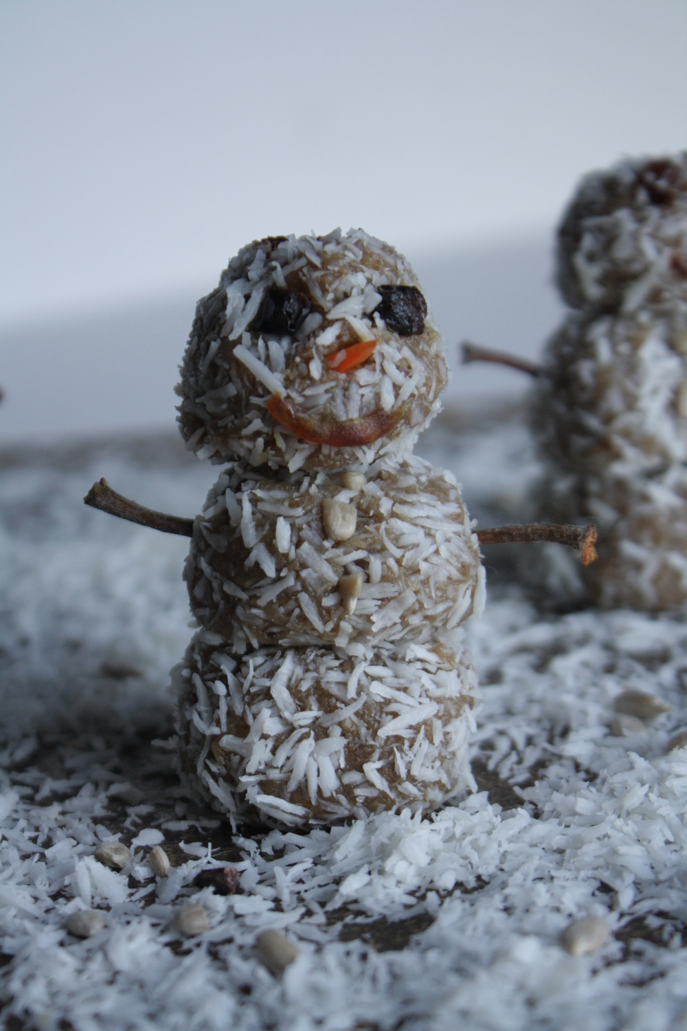 Raw Vegan Winter Snowmen