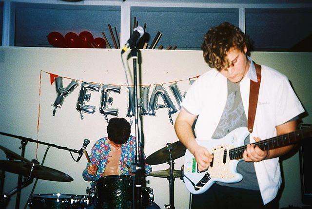 """We have a new single in our bio called """"Young People Exploring Each Other's Minds and Bodies (but it's not porn, it's just the name of this song)"""" from our album we droppin' March 30. :) love u all so much. Photo by @megolasgreenleaf from her bday prty:D"""
