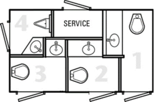 Four Stall Layout