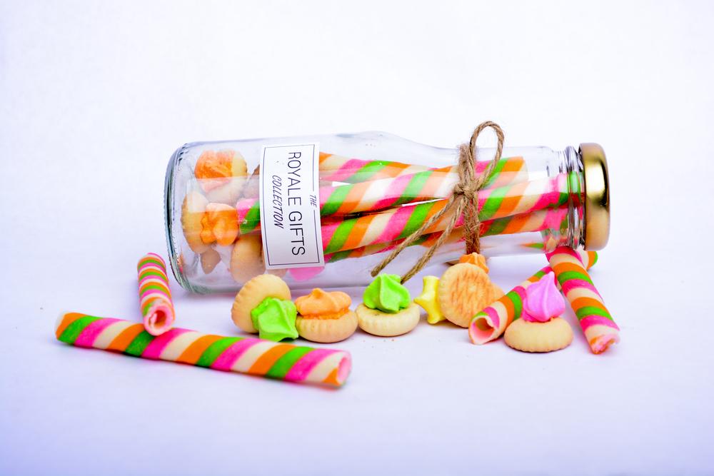 Gem biscuits in bottle Cenderahati dan door gift botol