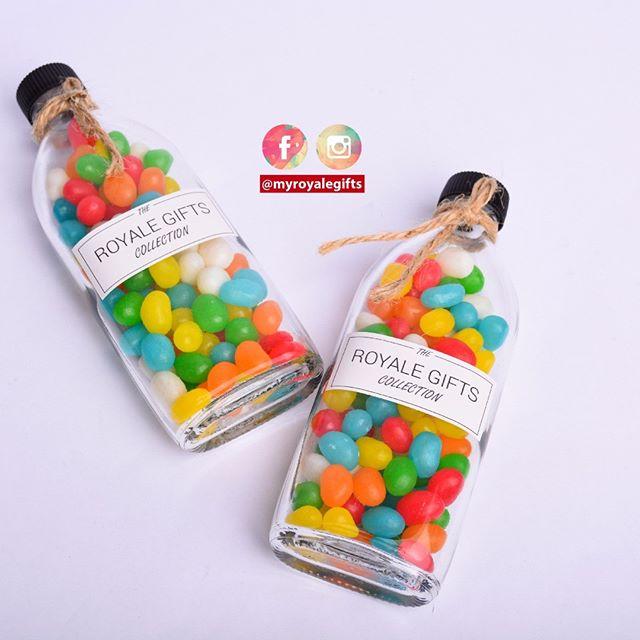 Colorful jellybeans in bottle! Doorgift for Wedding, Birthday, Nikah dan Aqiqah! . RM2.90 with custom stickers . WhatsApp kami di +6014.9646.007 atau DM utk order. Jgn lupa LIKE post ni ya dan share post okay 👌 . More Info & Testimonials : http://www.royalegifts.com/testimonials
