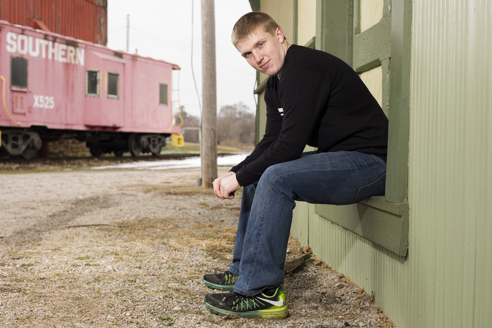Senior portraits of Wendy Spangler's son in Canal Winchester on Saturday, March 5, 2016.