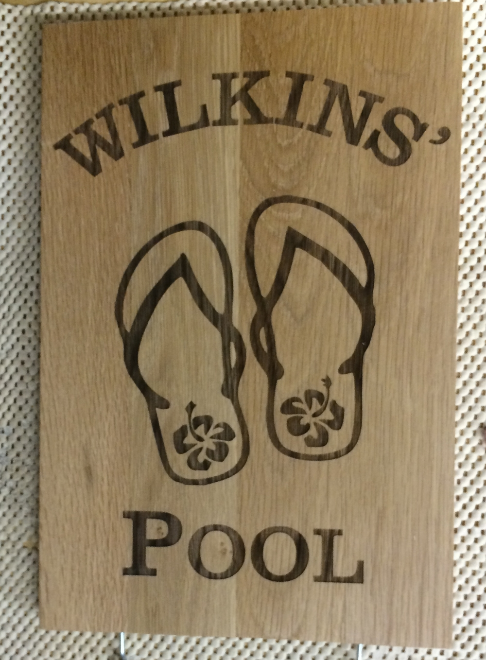 laser engraved oak