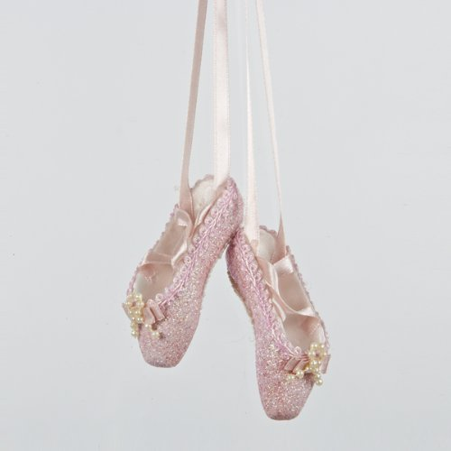 Ballet slipper ornament - A pretty little doodad for your dancer to hang by a desk or on a tree.