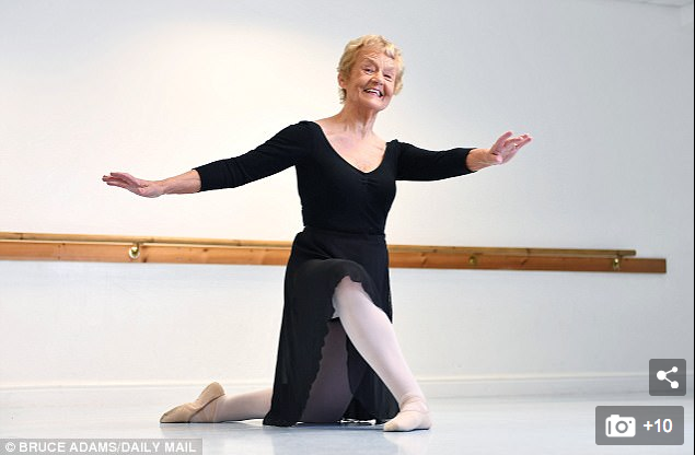 Britain's oldest ballet dancer passes elite exam... aged 80: Great-grandmother completes test with a merit 58 years after her last exam - Barbara Peters, 80, from Halifax, is the country's oldest ballet dancer. She passed a top exam from the Royal Academy of Dance in London. The great-grandmother has been dancing since she was a two-year-old.