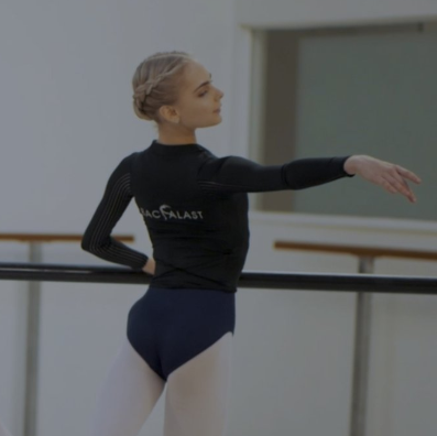 Backalast training tool - Help your dancer develop beautiful arm and back muscles and give her a boost in her training. This jacket brand new to the market features innovative elastics that help dancers understand correct technique.