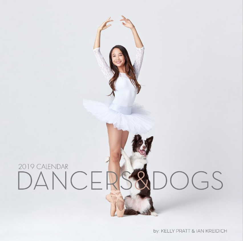 Dancers and Dogs calendar - These high quality 2019 calendars are great to display in your home, office, or dance studio! Featuring some of our favorite Dancer and Dog duos of the year!