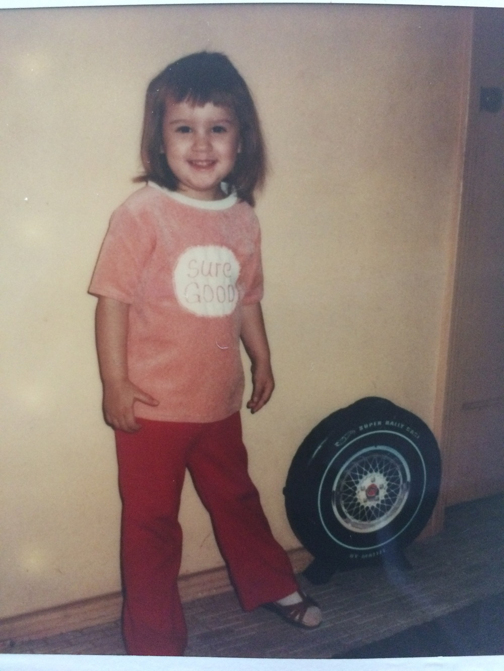 Me and my Hot Wheels. Yeah, dude. And socks with sandals, because eighties.